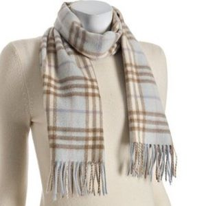 Burberry Cashmere Scarf Winter Ski Plaid Pattern